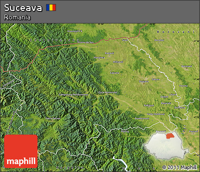 Free Satellite Map of Suceava