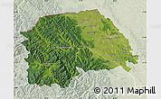 Satellite Map of Suceava, lighten