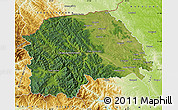Satellite Map of Suceava, physical outside