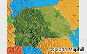 Satellite Map of Suceava, political outside