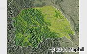 Satellite Map of Suceava, semi-desaturated