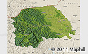 Satellite Map of Suceava, shaded relief outside