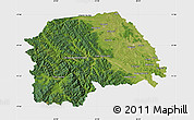 Satellite Map of Suceava, single color outside