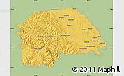 Savanna Style Map of Suceava, single color outside
