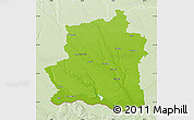 Physical Map of Teleorman, lighten
