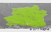 Physical Panoramic Map of Teleorman, desaturated