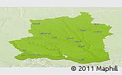 Physical Panoramic Map of Teleorman, lighten