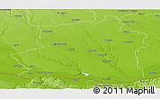 Physical Panoramic Map of Teleorman