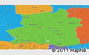 Political Panoramic Map of Teleorman