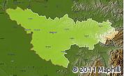 Physical Map of Timis, darken
