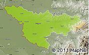 Physical Map of Timis, semi-desaturated