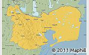 Savanna Style Map of Tulcea