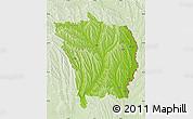 Physical Map of Vaslui, lighten
