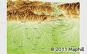 Physical Panoramic Map of Vîlcea