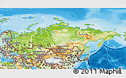 Physical 3D Map of Russia