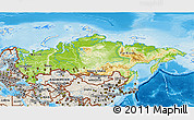 Physical 3D Map of Russia, shaded relief outside