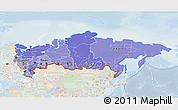 Political Shades 3D Map of Russia, lighten