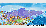 Political Shades 3D Map of Russia