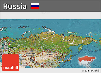 Free Satellite 3D Map of Russia