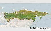 Satellite 3D Map of Russia, lighten
