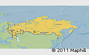 Savanna Style 3D Map of Russia, single color outside