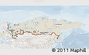 Shaded Relief 3D Map of Russia, lighten