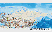 Shaded Relief 3D Map of Russia