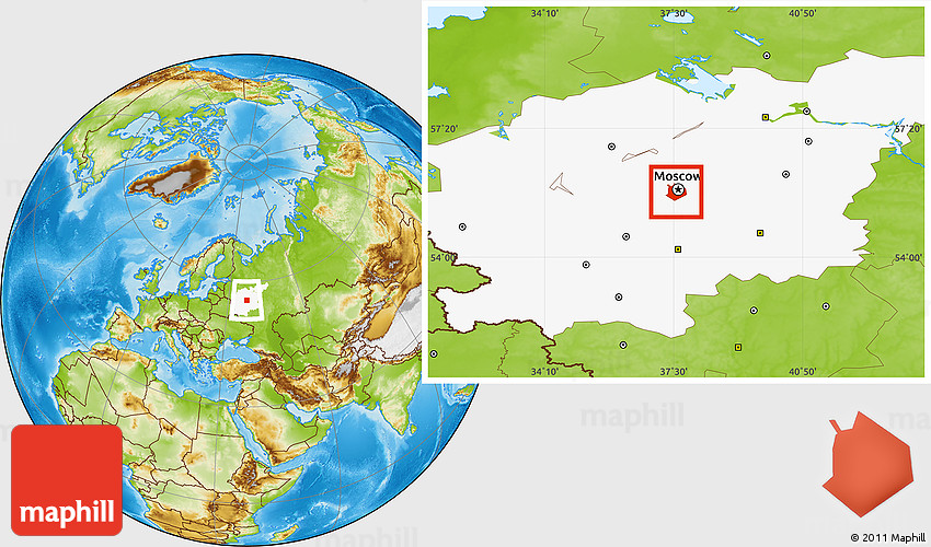 Moscow World Map 45491 Usbdata