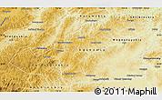 Physical Map of Agin-Buryat Autonomous Okrug