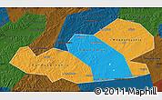 Political Map of Agin-Buryat Autonomous Okrug, darken