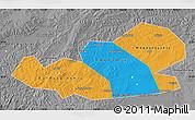 Political Map of Agin-Buryat Autonomous Okrug, desaturated