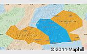 Political Map of Agin-Buryat Autonomous Okrug, lighten