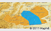 Political Map of Agin-Buryat Autonomous Okrug, physical outside