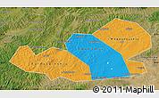 Political Map of Agin-Buryat Autonomous Okrug, satellite outside