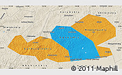 Political Map of Agin-Buryat Autonomous Okrug, shaded relief outside