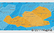 Political Shades Map of Agin-Buryat Autonomous Okrug