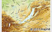 Physical Map of Buryatia