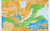 Political Shades Map of Buryatia