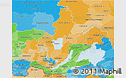 Political Shades 3D Map of Irkutsk Oblast