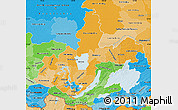 Political Shades Map of Irkutsk Oblast