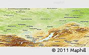 Physical Panoramic Map of Irkutsk Oblast