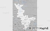 Gray Map of Krasnoyarsk Krai