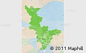 Political Shades Map of Krasnoyarsk Krai, lighten