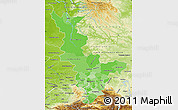 Political Shades Map of Krasnoyarsk Krai, physical outside