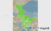 Political Shades Map of Krasnoyarsk Krai, semi-desaturated