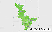 Political Shades Map of Krasnoyarsk Krai, single color outside