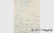 Shaded Relief Map of Krasnoyarsk Krai