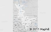 Silver Style Map of Krasnoyarsk Krai