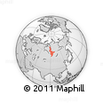 Outline Map of Krasnoyarsk Krai