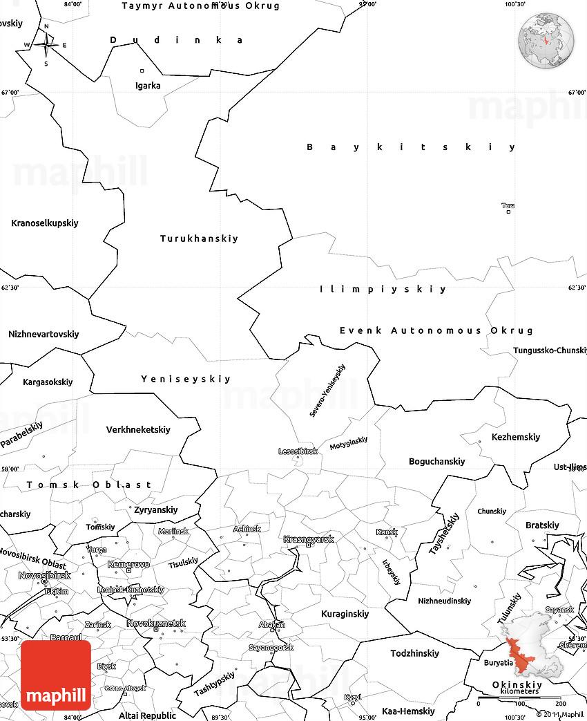 What part of Russia is Krasnoyarsk Krasnoyarsk Territory on the map of Russia